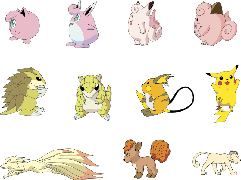 Pokemon vector