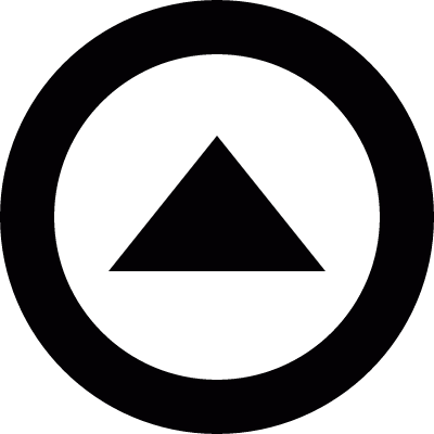 Triangle inside circle logo