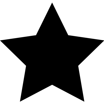 Starred as favourite vector logo
