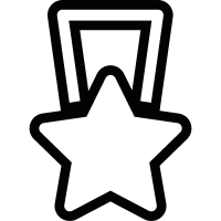 Star shaped medal vector
