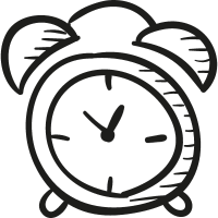 Draw Alarm Clock vector