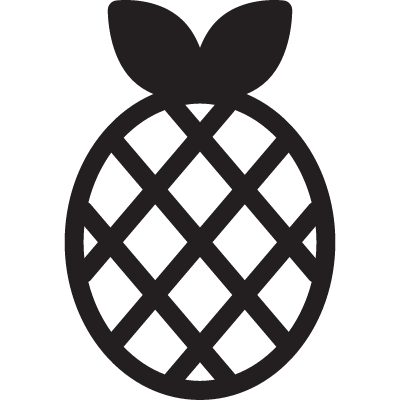 Pineapple with leeves vector logo
