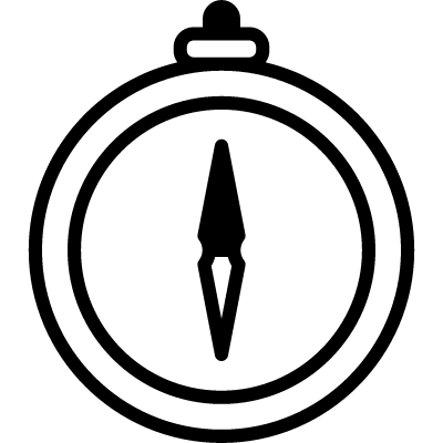 Compass Pointing North and South vector logo