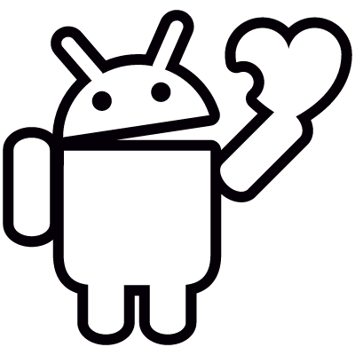 Android Holding Heart vector logo