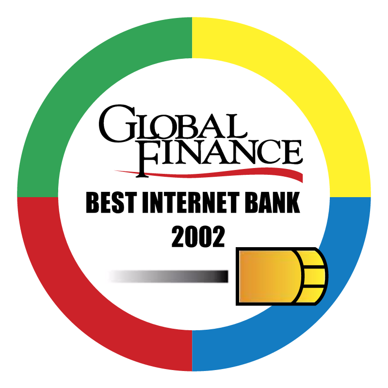 Best Internet Bank 2002 vector