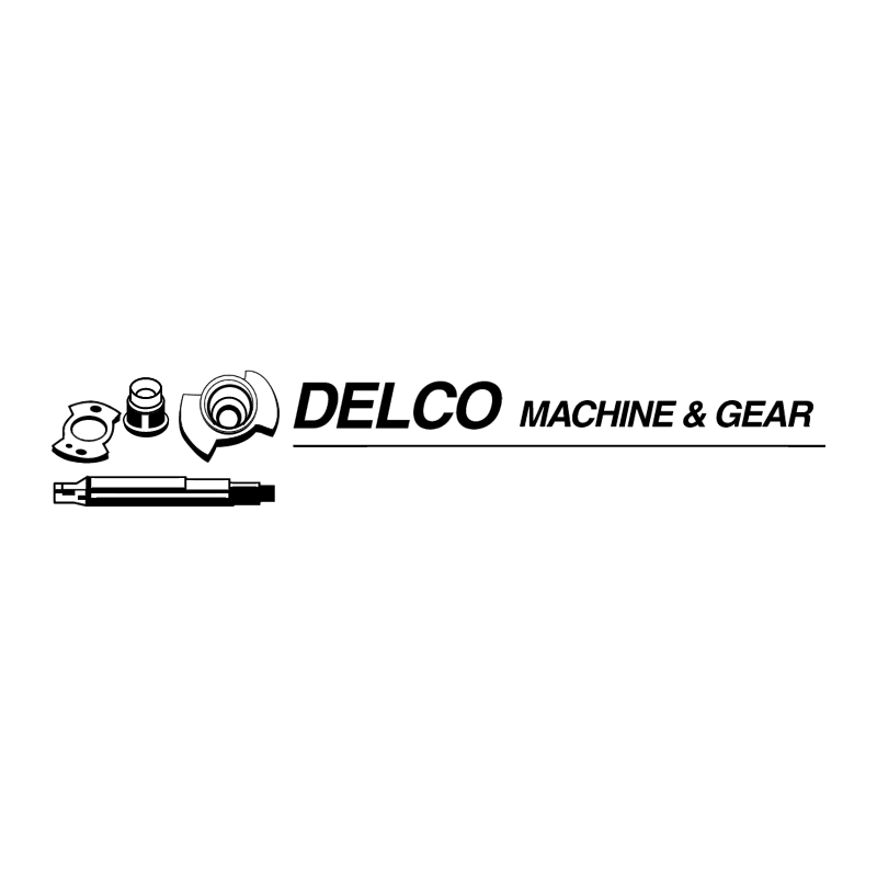 DELCO Machine & Gear vector logo