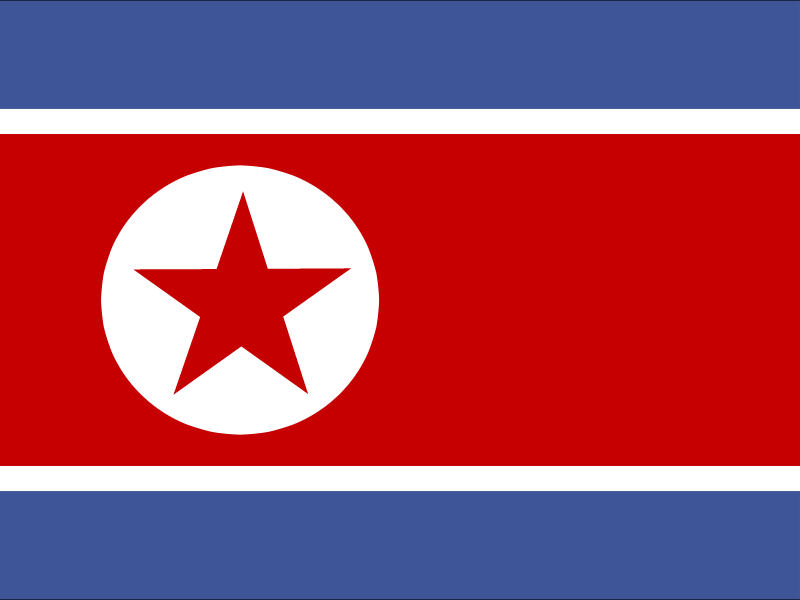 Flag of Democratic People's Republic of Korea vector