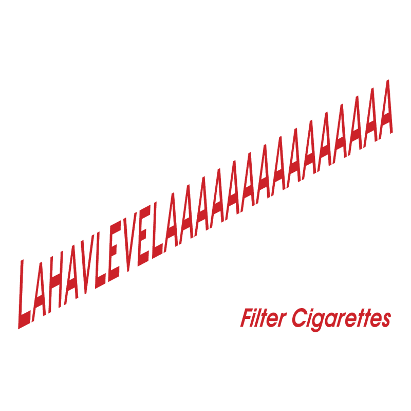 Lahavlelaaaaaa Filter Cigarettes vector