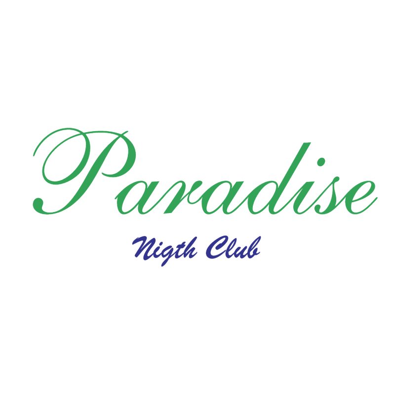 Paradise Nigth Club vector