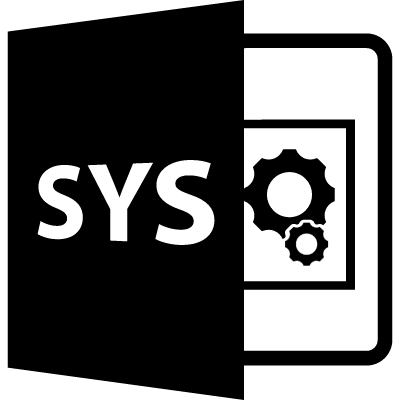SYS file format variant vector logo