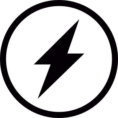 Lightning in a circle vector logo