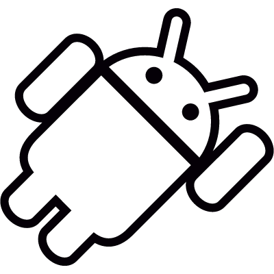 Android with Left Hand Up vector logo