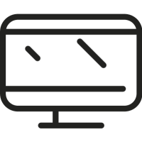 Rectangular Monitor vector