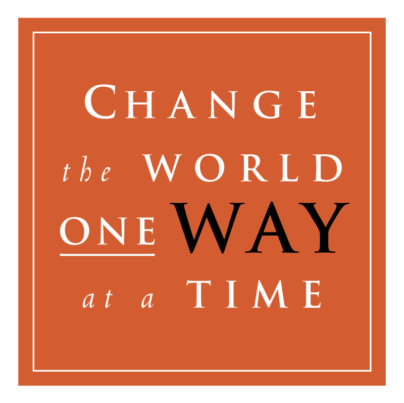 Change the World One Way at a Time vector