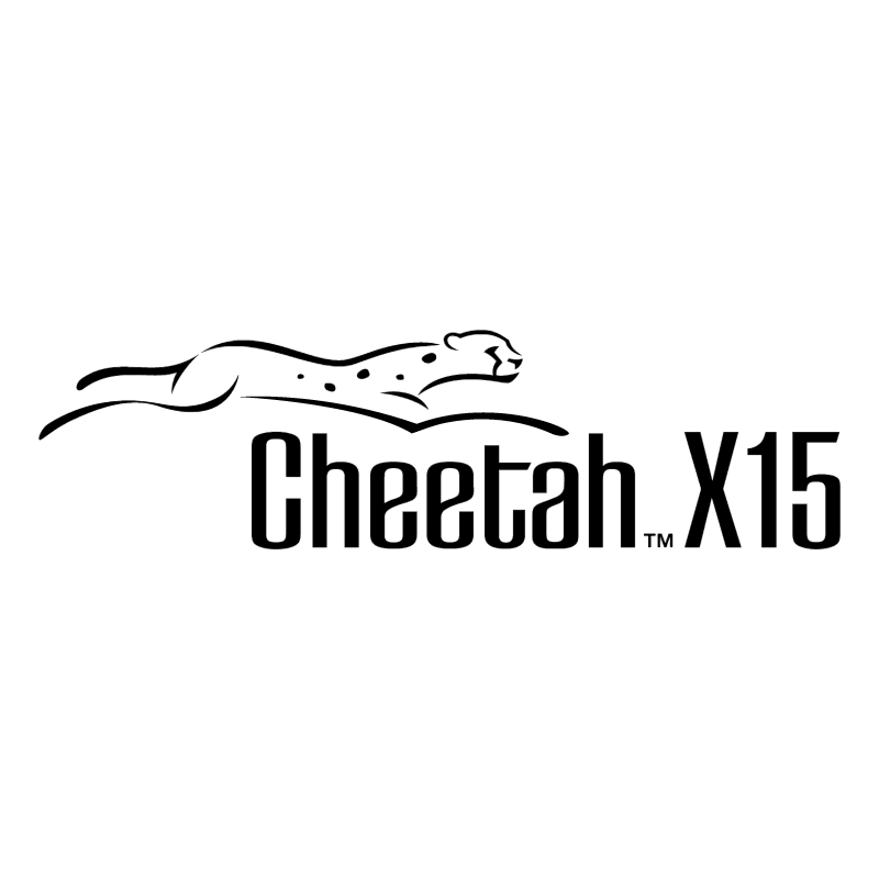Cheetah X15 vector logo