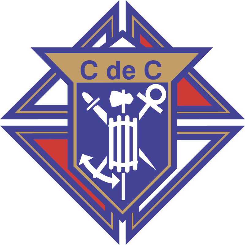 Chevaliers de colomb vector logo