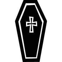 Cross on a coffin vector