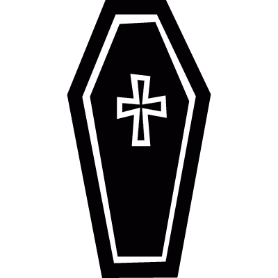 Cross on a coffin vector logo