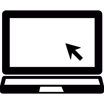 Laptop with mouse cursor ⋆ Free Vectors, Logos, Icons and ...