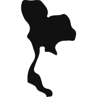 Thailand country map silhouette
