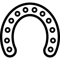 Horseshoe outline with circular holes along all its extension vector