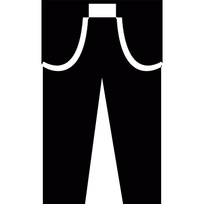 Trousers vector logo