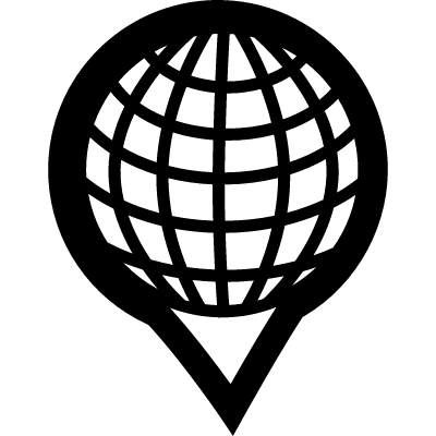 Earth grid in placeholder logo