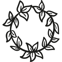 Crown of Leaves vector