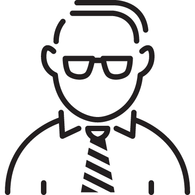 Manager with Tie vector logo