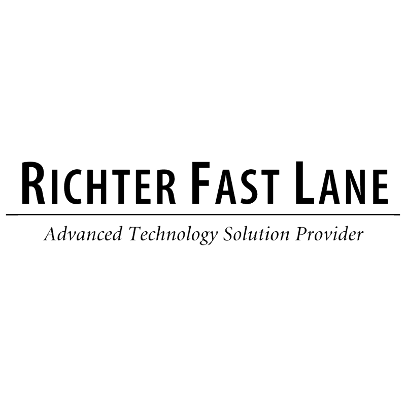 Richter Fast Lane vector logo