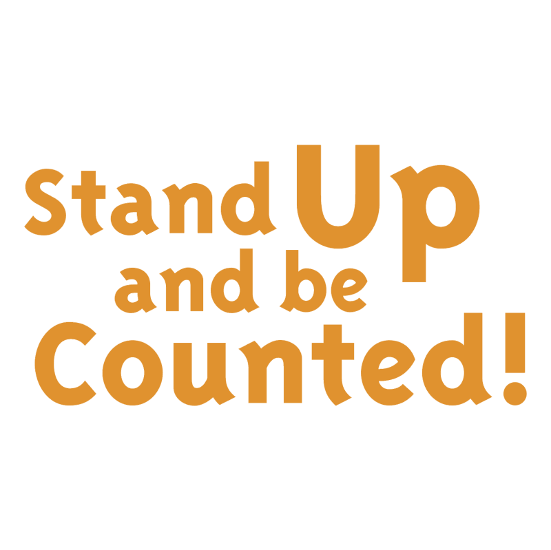 Stand Up and be Counted! vector