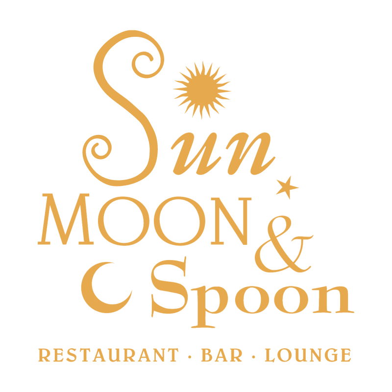 Sun, Moon & Spoon vector logo