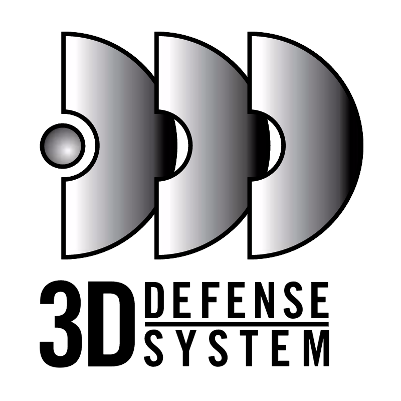 3D Defense System vector logo