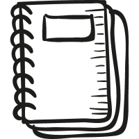 Draw School Notebook vector
