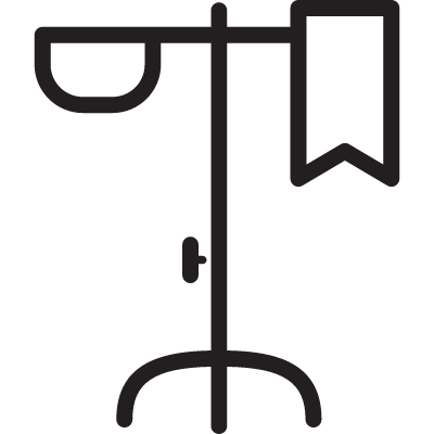 Hanger with Package of Serum vector logo