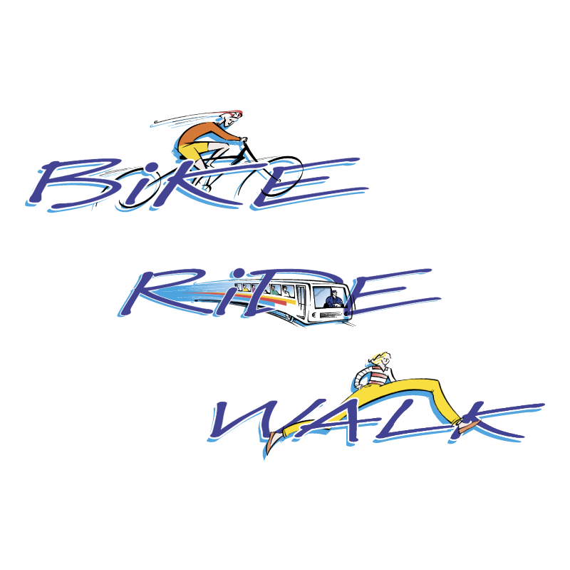 Bike Ride Walk vector logo