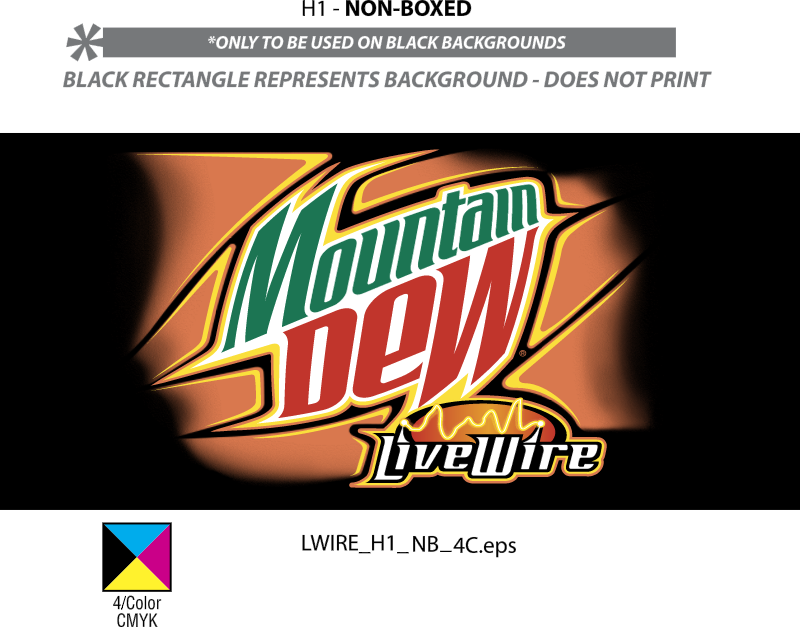 MOUNTAIN DEW LIVE WIRE vector