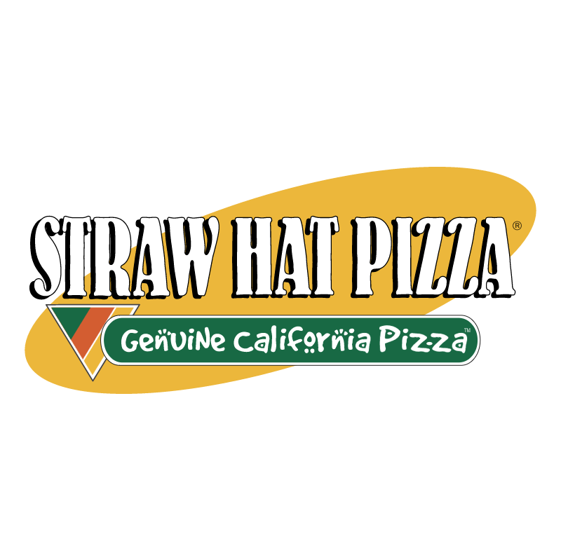 Straw Hat Pizza vector logo