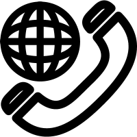 International telephone symbol outline