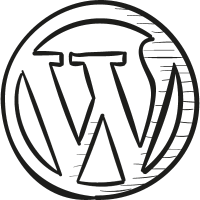 WordPress Draw Logo vector