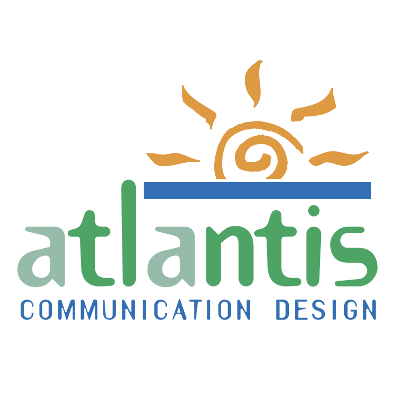 Atlantis Communication Design vector logo