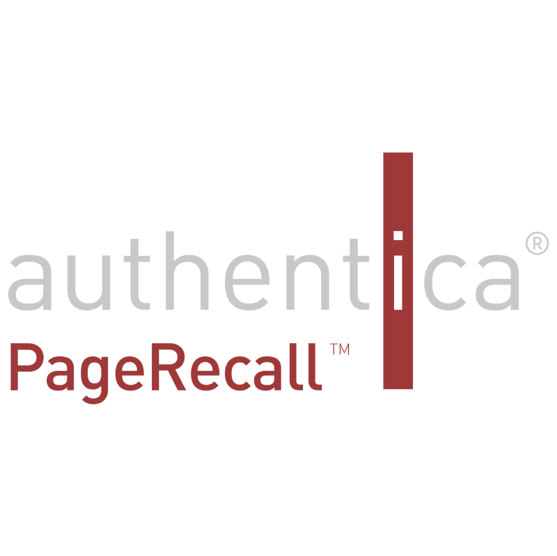 Authentica PageRecall 38897 vector