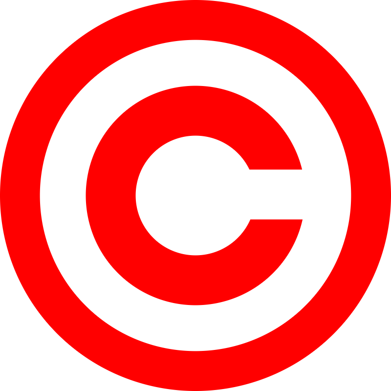 Copyright red vector