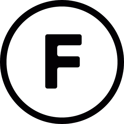 F inside a circle vector logo