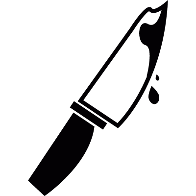 Knife with blood logo