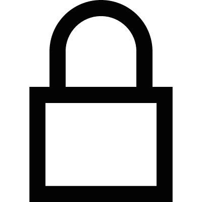 Secured lock vector logo