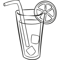 Lemonade with Straw vector