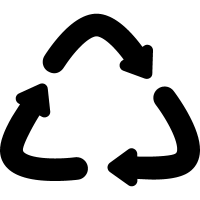Curved Recycling Symbol logo