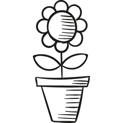 Pot with Flower vector logo