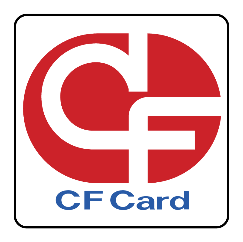 CF Card vector logo